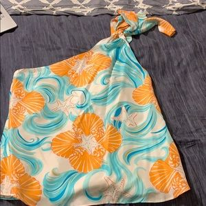 Lilly Pulitzer one shoulder top